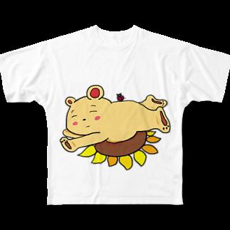 ぺけ丸のお昼寝くま Full graphic T-shirts