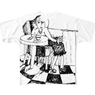 カフェテリア Full graphic T-shirts
