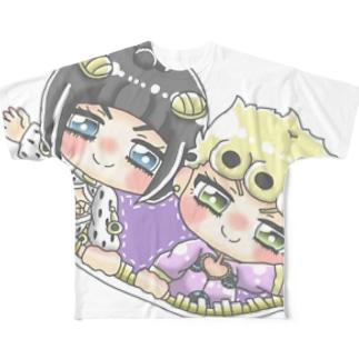 版権 JOJO Full graphic T-shirts