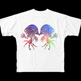 えひと屋のラクガキTシャツ Full graphic T-shirts