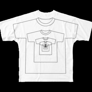 """どうも、幕Macです。の無限Tシャツ """"じ・いんふぃにちぃ"""" Full graphic T-shirts"""