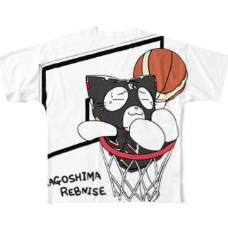 れぶにゃんシュートTシャツ Full graphic T-shirts