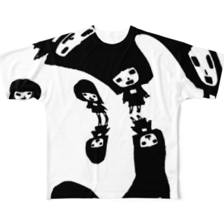 qethapethapの人影踏 Full graphic T-shirts