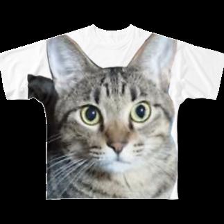 MencosQueDamono妄想商品開発室のお目目まんまるちゃ~ん Full graphic T-shirts