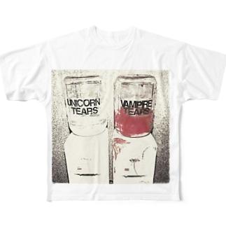 貴方ノ潤イ Full graphic T-shirts
