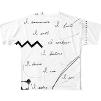 12星座キーワード Full graphic T-shirts