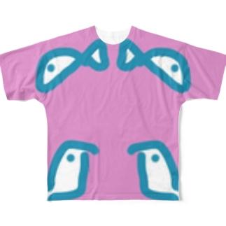 サカナ?? Full graphic T-shirts