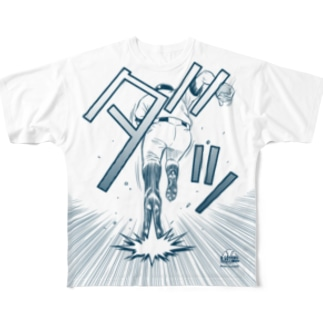 BASEBALL LOVERS CLOTHINGの【前面プリント】「スピードスター/韋駄天ブルー」 Full graphic T-shirts