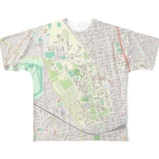 きゅうりやの北大地図グッズ Full graphic T-shirts
