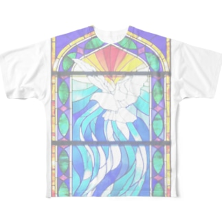 stained glass Full graphic T-shirts