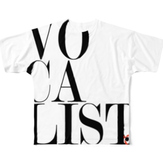 Vocalist Black Full graphic T-shirts