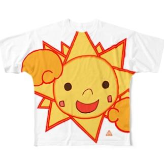 飛び出せ ともSUN Full graphic T-shirts