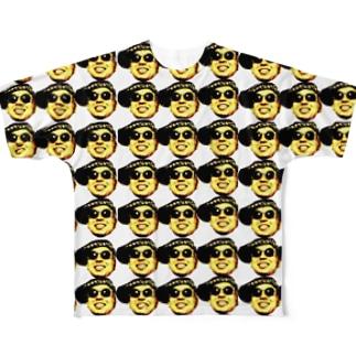 「キモ!顔爆」シリーズ Full graphic T-shirts