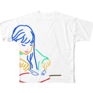 バーガーバーガー  ウラオモテ Full graphic T-shirts