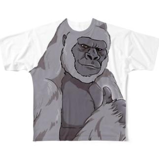 いいね!ゴリラ Full graphic T-shirts
