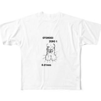 OTOKOGIくんTシャツブラック Full graphic T-shirts