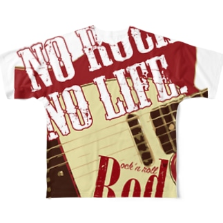 No Rock. No Life. Red Full graphic T-shirts