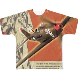ベル P-39 エアラコブラ Full graphic T-shirts