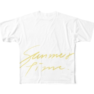 summertime_yellow Full graphic T-shirts