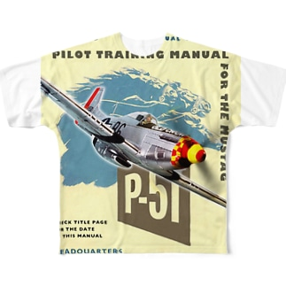 P-51 マスタング Full graphic T-shirts