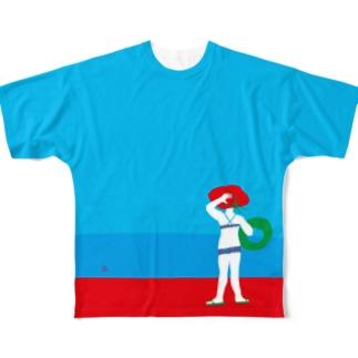 I wanna go to sea!! Full graphic T-shirts