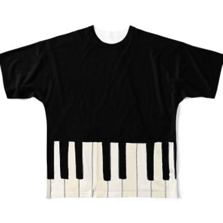 I LOVE PIANO Full graphic T-shirts