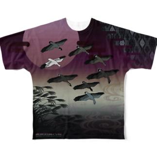 雁八種と落雁シャツ(桃色)Lサイズ専用 Full graphic T-shirts