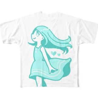 なつのひ、ラムネカラー Full Graphic T-Shirt