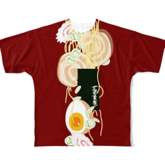 フォーリング支那そば Full graphic T-shirts