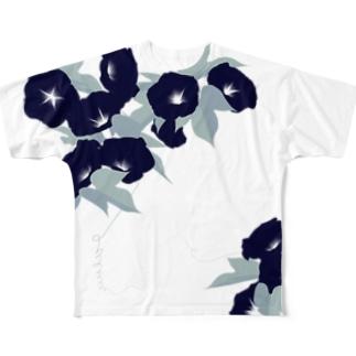 朝顔 Full graphic T-shirts