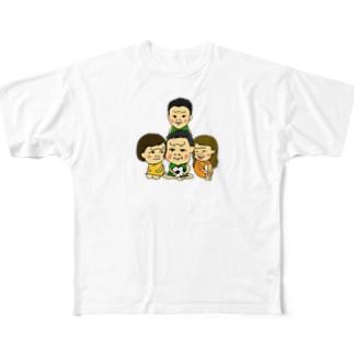 白 Full graphic T-shirts
