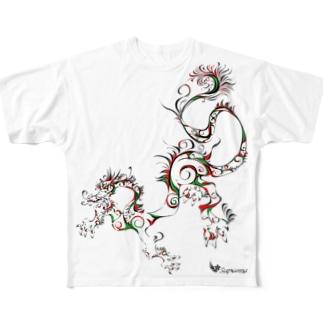 龍 A Full graphic T-shirts