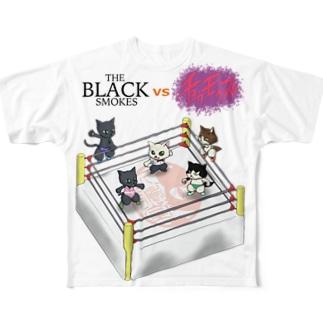 キャットファイト! Full graphic T-shirts
