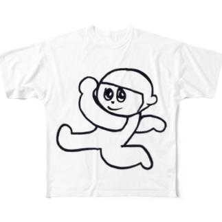 もずもずくん Full graphic T-shirts