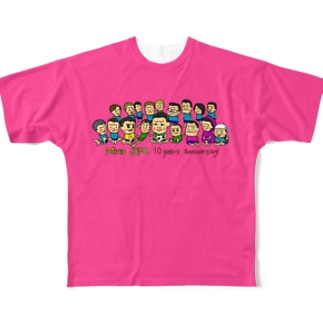 Mito cup3 ピンク 裏迷彩-2 Full graphic T-shirts