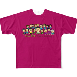 Mito cup3 ピンク 裏迷彩-4 Full graphic T-shirts