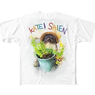 信楽のたぬきさん、家庭菜園を始めた〜巻 Full graphic T-shirts