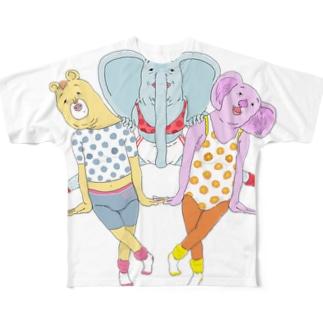仲良しトリオ Full graphic T-shirts