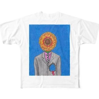 花男(はなおとこ) Full graphic T-shirts