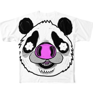 Pnadrew Big Face All-Over Print T-Shirt