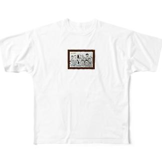 30〜50歳のおじさんたち Full graphic T-shirts