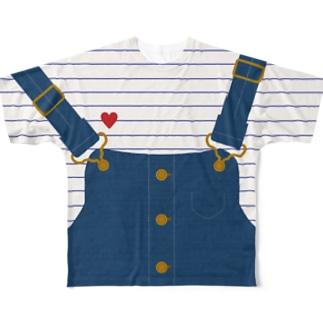 サロペットTシャツ Full graphic T-shirts