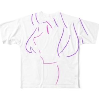おんなのこ その2 Full graphic T-shirts