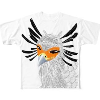ヘビクイワシ Full graphic T-shirts