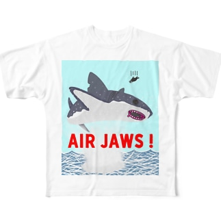 AIR JAWS! ごー!はー!…ん? Full graphic T-shirts