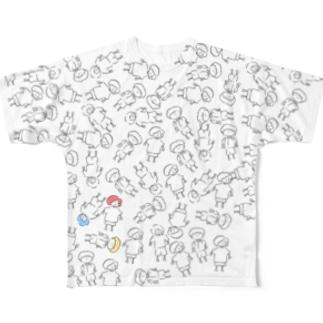 3人組 Full graphic T-shirts