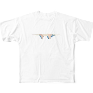 ホップステップジャンプ Full graphic T-shirts