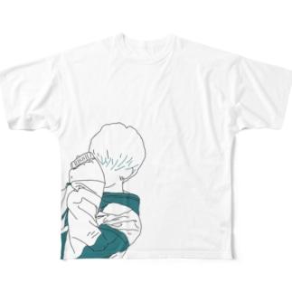 イラスト男子 Full graphic T-shirts