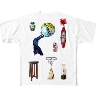 夢みるクロネコ Full graphic T-shirts