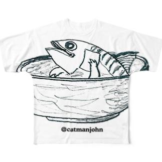 へしこちゃづけ〜heshiko chad-zuke Full graphic T-shirts